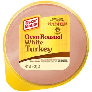 - OSCAR MAYER LUNCH MEAT COLD CUTS OVEN ROASTED WHITE TURKEY 16 OZ PACK OF 3