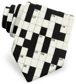 Men's Crosswords Tie Fun Ties in Black