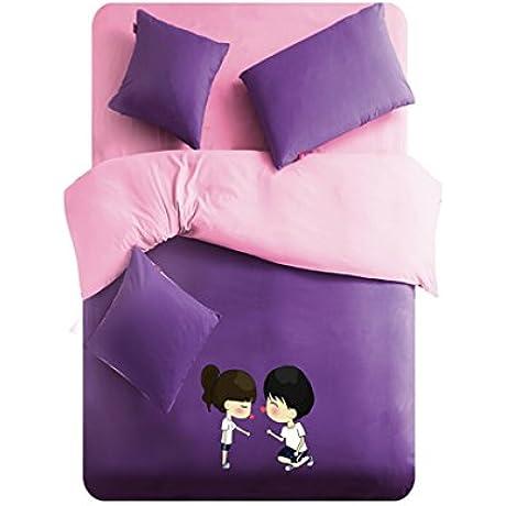 Linta Purple Lover Pattern Bedding Set X Long Twin