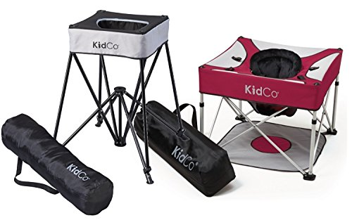 KidCo Go-Pod Plus Infant Activity Seat with DinePod Portable Highchair, Cranberry/Midnight