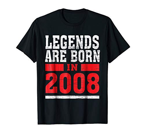 (Legends Born in 2008 10 years old 10th Birthday B-day Gift t)