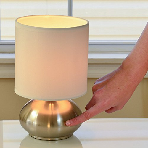 Light accents touch lamps set of 2 bedroom side table for Bedroom touch table lamps