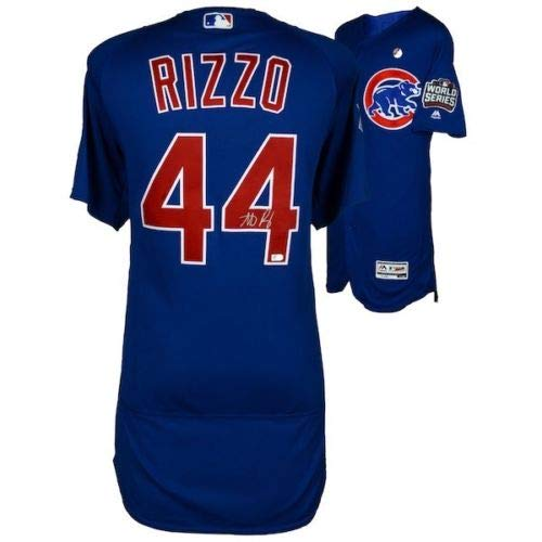 ANTHONY RIZZO Autographed 2017 World Series Blue Authentic Jersey FANATICS