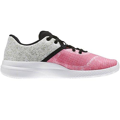 Reebok Cardio Edge Low, Women's Sneakers Rosa (Poison Pink / Black / White / Hero Yellow)