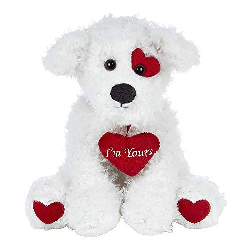 Bearington Smootchie Poochie White Plush Stuffed Animal Puppy
