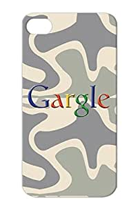 TPU Gargle Funny Satire Wordplay Funny Humor Google For Iphone 4/4s Navy Skid-proof Protective Hard Case
