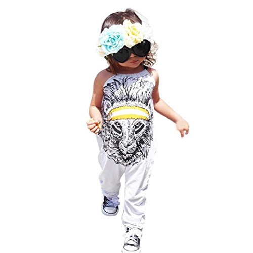 kaifongfu Newborn Jumpsuit, Toddler Kids Baby Boy Girl Sleeveless Romper Jumpsuit Clothes Outfit Set (110(3-4T), Gray) (Months Romper Outfit)