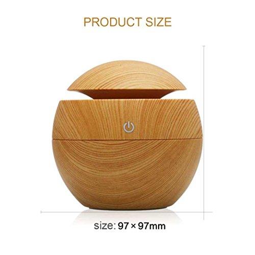 Mini Humidifier,Air Purifiers,USB Wood Grain Aromatherapy Humidifier Office Desktop Mini Perfume Machine Ultrasonic Humidifier Brown (Brown) by Appoi (Image #1)