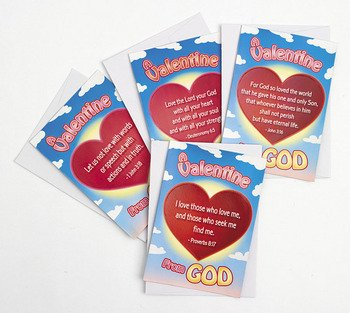 Valentine From God Sticker Cards by Fun Express