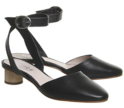 Office Leather Heels Black Cylindrical Meteoroid fRnqA4a