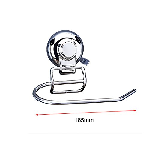 FUNRUI SUS304 Stainless Steel Suction Toilet Roll Holder No Drilling Bathroom Kitchen Accessories Tissue Towel Roll Holder Hook Hanger Chrome Plated by FUNRUI (Image #1)