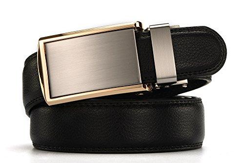 [Small buckle belt]Men's Automatic Buckle New Style Ratchet Leather Dress Belt 30mm Wide 1 1/8