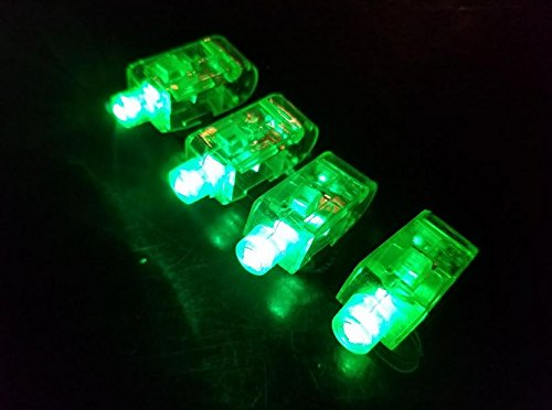 (Los Angeles Superstore (TM) 100 Pack of GREEN Bright Light Up Finger Light LED Party Favor)