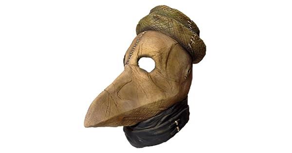 Amazon.com: Deluxe Peste negra Muerte máscara de látex de ...