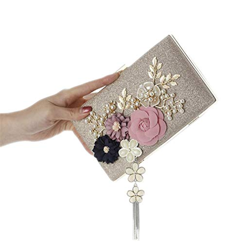 Ladies Bags Wedding Floral 2 Evening MN569 Bags Party Bags With Clutch Chain Handmade Pearl NEW For Fashion xXqU60n