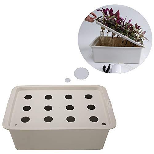 Best Quality - Nursery Pots - 1Pc 12 Holes Plant Site Hydroponic Garden Pots Planters System Indoor Garden Cabinet Box Grow Kit Bubble Nursery Pots Grow Kit - by SeedWorld - 1 PCs