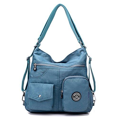 Bags Shoulder Light blue Women Capacity Bag Shoulder Hobo Backpack Nylon Tote KARRESLY Handbags Large Bags wAPqx6I