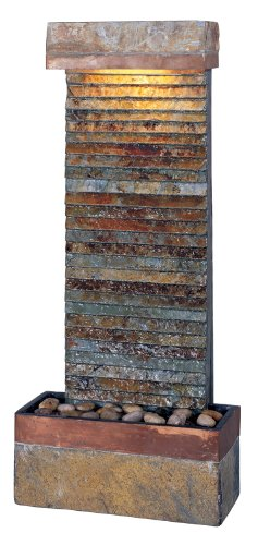 Kenroy Home #50290SLCOP Tacora Horizontal Indoor Table/Wall Fountain in Natural Slate Finish with Copper Accents by Kenroy Home