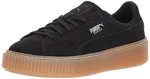 Black Plateforme Pré Chaussures Puma À En scolaire Black Daim puma X0gawnxa