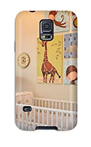 Cute High Quality Galaxy S5 Unisex Nursery Decorated With Zoo Animals And White Crib Case