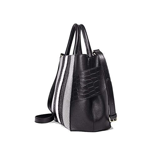 AJLBT De Main Sac Haut Sac Polyvalent Mode Femme Black Gamme Simple à Pratique élégant 1q1fxpUrw