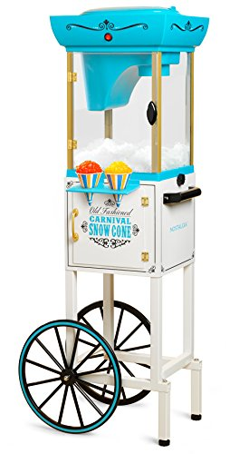 Black Vending Cart - Nostalgia SCC399 Snow Cone Cart - 48 Inches Tall