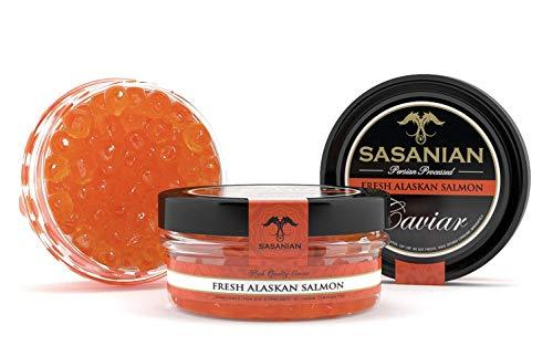 (GUARANTEED OVERNIGHT! Wild Fresh Alaskan Salmon Caviar Roe Ikura Ketta Keta - 500g Tin)