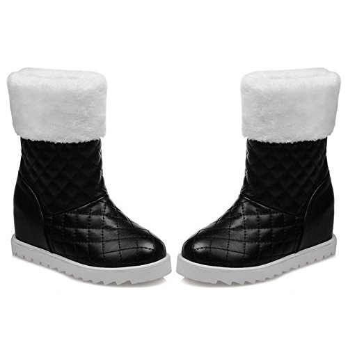 Pull COOLCEPT Black Women Boots On Height Increasing xS8azqE