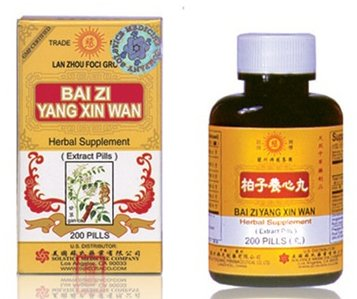 Bai Zi Yang Xin Wan Herbal Supplements from Solstice Medicine Company 200 Pill Bottle For Sale