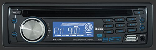 BOSS AUDIO 637UA Single-DIN CD/MP3 Player Receiver, Detachable Front Panel (2002 Chevy Impala Cd Player)