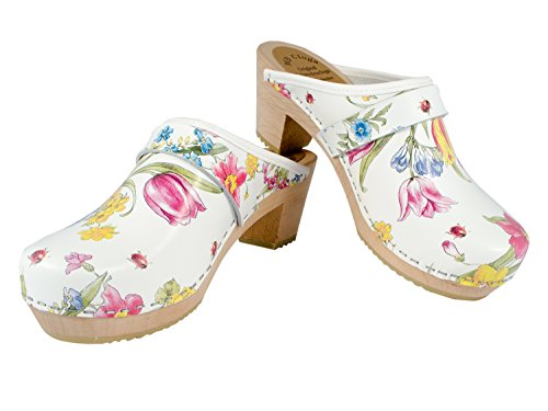 Modell Summer MB Damenclogs Schwedenclogs Flowers Clogs Original Clogs wqC4vxtWp