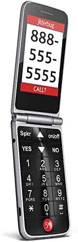 Jitterbug Flip Easy-to-Use Cell Phone for Seniors (Graphite) by GreatCall