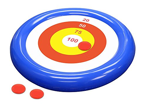 Giant 4 ft Bullseye Toss - Water Sport Floating Pool Game for Pool Parties and Outdoor Recreation - Fun Educational Toy