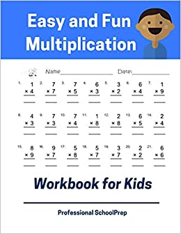 Easy And Fun Multiplication Workbook For Kids Full Set 5000 Times