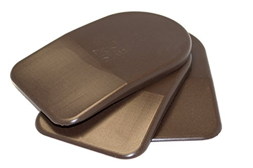 BML 7mm Heel Lifts, 3pk (Mens Large, Brown [soft]) by Basic Mold Labs (BML)
