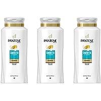 3 Pack Pantene Pro-V Smooth & Sleek Shampoo, 25.4 fl oz