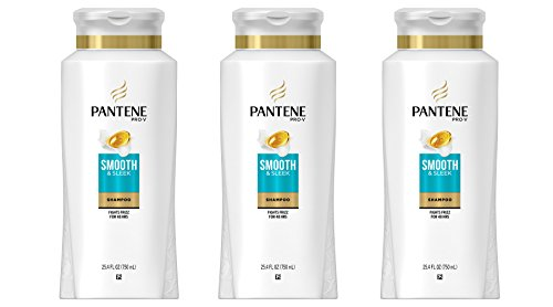 Pantene Pro-V Medium-Thick Hair Solutions Frizzy to Smooth Shampoo 25.40 oz (Pack of 3) - Straight Anti Frizz Smoothing Shampoo