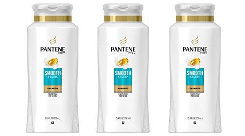 Pantene Pro-V Smooth & Sleek Shampoo, 25.4 fl oz (pack of 3) (Packaging May - Place Prov