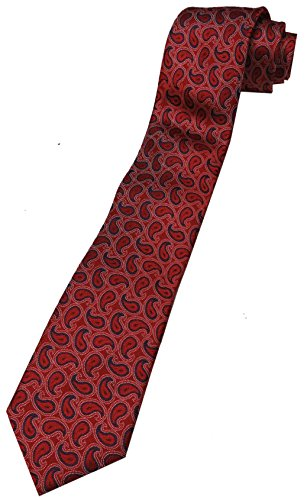 Donald Trump Signature Collection Neck Tie Red and Blue Paisley - Trump Signature Collection