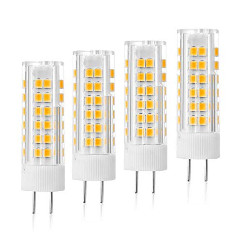 VWV GY6.35 LED Bulbs 6W, 120V Voltage, G6.35/GY6.35 Bi-pin Base, Halogen Bulb Replacement 50W ,Dimmable Warm White 3000K 4Pack