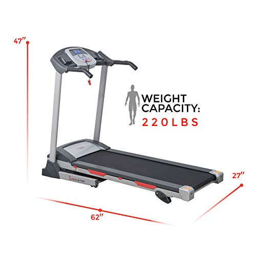 Sunny Health & Fitness SF-T7603 Electric Treadmill w/ 9 Programs, 3 Manual Incline, Easy Handrail Controls & Preset Button Speeds, Soft Drop System by Sunny Health & Fitness (Image #12)
