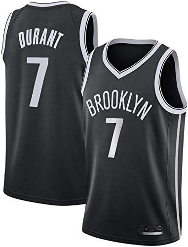 June Bart Camiseta de Baloncesto para Hombre,Mujeres Jersey Hombre NBA Brooklyn Nets 7# Durant Jerseys Transpirable Bordado Baloncesto Swingman Jersey