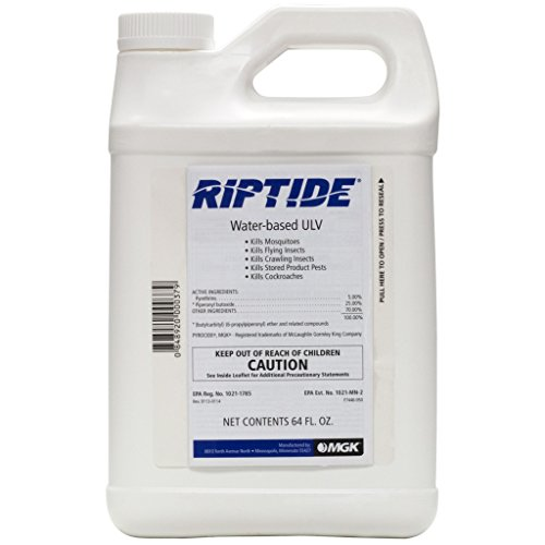 Riptide 5.0% Pyrethrin ULV 64 ounce Pest Control For Stored Product Pests, Cockroaches, biting Insects, crawling insects, mosquitos, flies etc.. Used In Misting Systems for Flying Insects by Riptide Waterbased Pyrethrin ULV