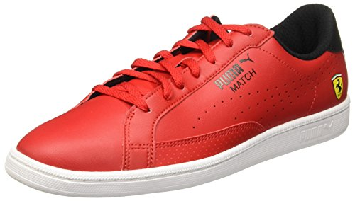 Puma Ferrari Evo Match Mens Trainers (Red) rosso corsa/puma black/white