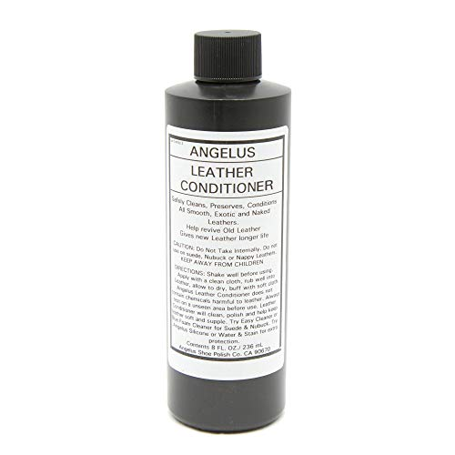 Angelus Leather Conditioner Cleaner for Shoes, Sneakers, Boots, Handbags, Couches- Safely Revives & Restores- 8oz