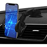 Car Phone Mount, 2in1 Windshield Dashboard Cell Phone Holder - Universal Smartphone Car Mount Holder for iPhone Xs Max/Xs/XR/X/8/8 Plus/7/7 Plus/5S, Galaxy S9+/S9/S8/S7, Google LG Nexus Sony and More