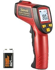 AstroAI Digital laser infraröd termometer, kontaktlös temperaturmätare IR Pyrometer LCD belysning temperaturmätare -50 °C till 550 °C, röd och svart