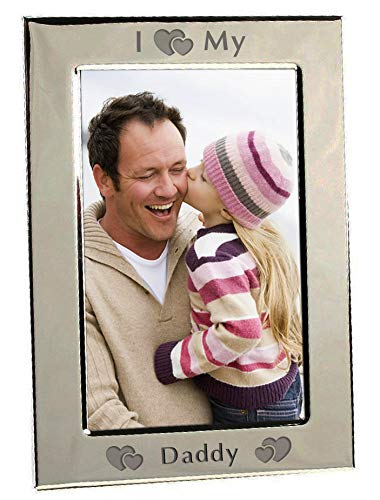 I Heart My Daddy Love Silver Plated 6x4 6 x 4 Portrait Picture Photo Frame Photoframe Gifts Idea From Son Daughter For Birthday Chris Bag of Goodies