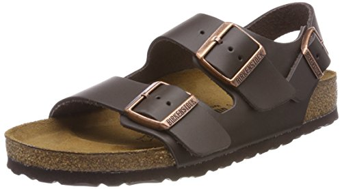 Birkenstock 34101 Milano Leather Women's Sandals, Dark Brown, 41 ()