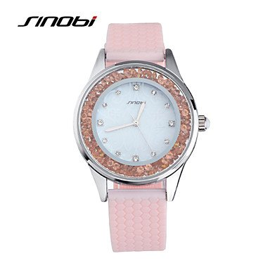 Fashion Watches Fashion Quartz Ladies Pink Silicone Diamond Wristwatches Women Waterproof Watches Relojes Mujer Watches Unique